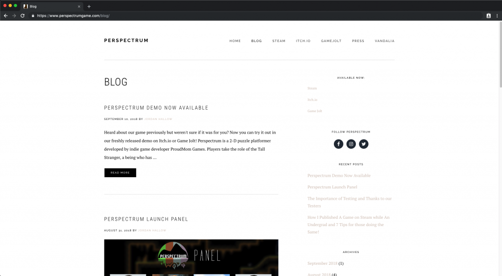 Perspectrum – Website Design and Development
